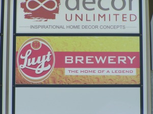 Luyt Brewery sign Ballito