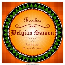 Belgian Saision Beer label