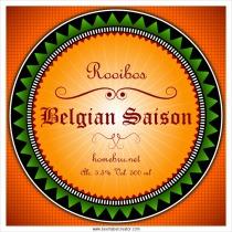 Belgian Saision Beer label