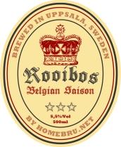 Rooibos Belgian Saison label